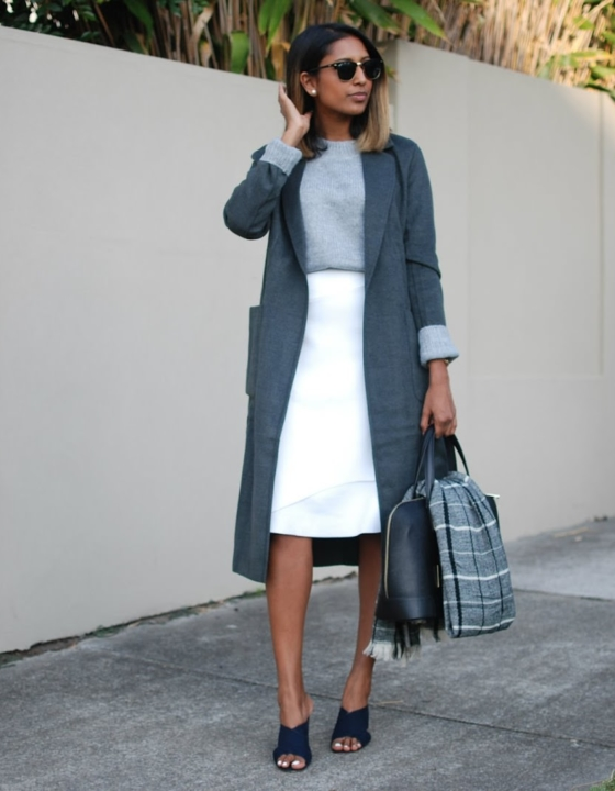 trending: the long line coat.